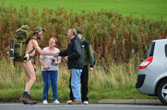 Naked Rambler Stephen Gough Makes His Way South Following Release From Saughton Prison