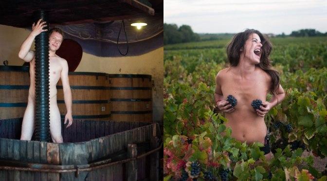 Colhedores de uvas posam nus para calendário na França